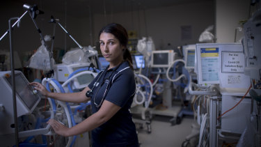 Emma Schroder, nurse at the Austin Hospital for  a series on healthcare workers on the frontline of the COVID-19 pandemic.