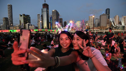 Welcome to the '20s: Brisbane sees in the new decade with a bang