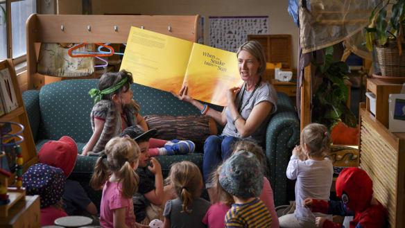 Kindergarten students flock to Aboriginal languages