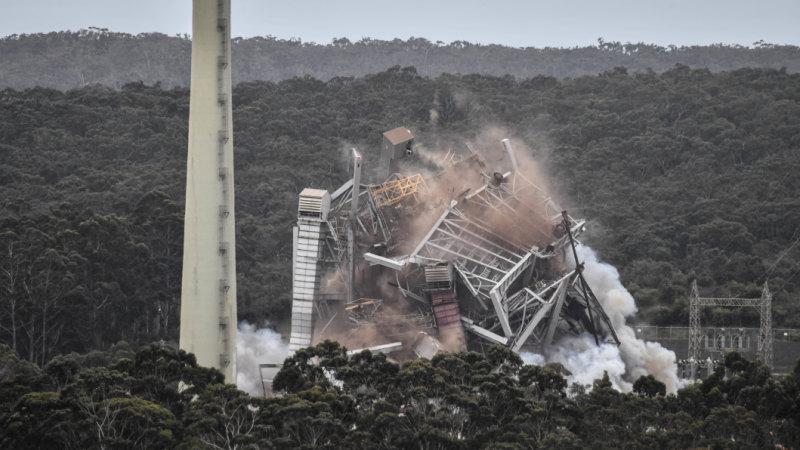 Alcoa Good Times >> Explosives bring down Anglesea Alcoa plant at last
