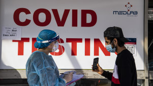 Campsie COVID testing clinic. Coronavirus COVID-19 20th August 2021 Photo Louise Kennerley SMH