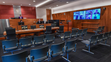 Aremote plea hearing in the County Court in June last year, after jury trials were suspended.