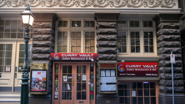 The Curry Vault restaurant in Melbourne's CBD has been listed as a tier one exposure site.