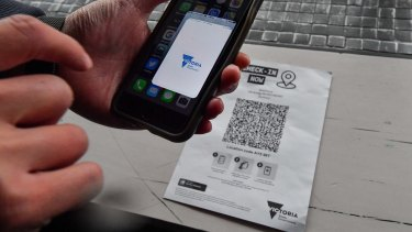 The Service Victoria app could be used to confirm a person's vaccination status.