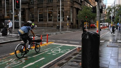 'Unparalleled': Sydney's most popular pop-up bike path overtakes city's busiest