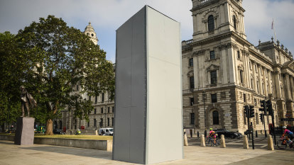 'Absurd and shameful': Winston Churchill statue sealed in steel ahead of protests