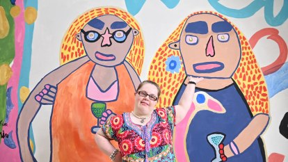 Tickled pink: Artist Emily Crockford wins prize with colourful creations