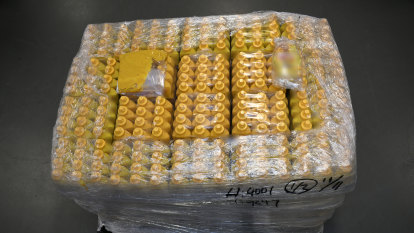 Ice trade stopped at sauce after liquid meth worth $123m found in mustard bottles