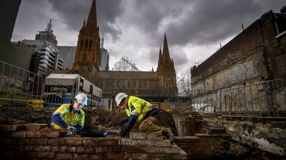 No hidden treasure, but 1000 teeth found at Swanston Street dig site