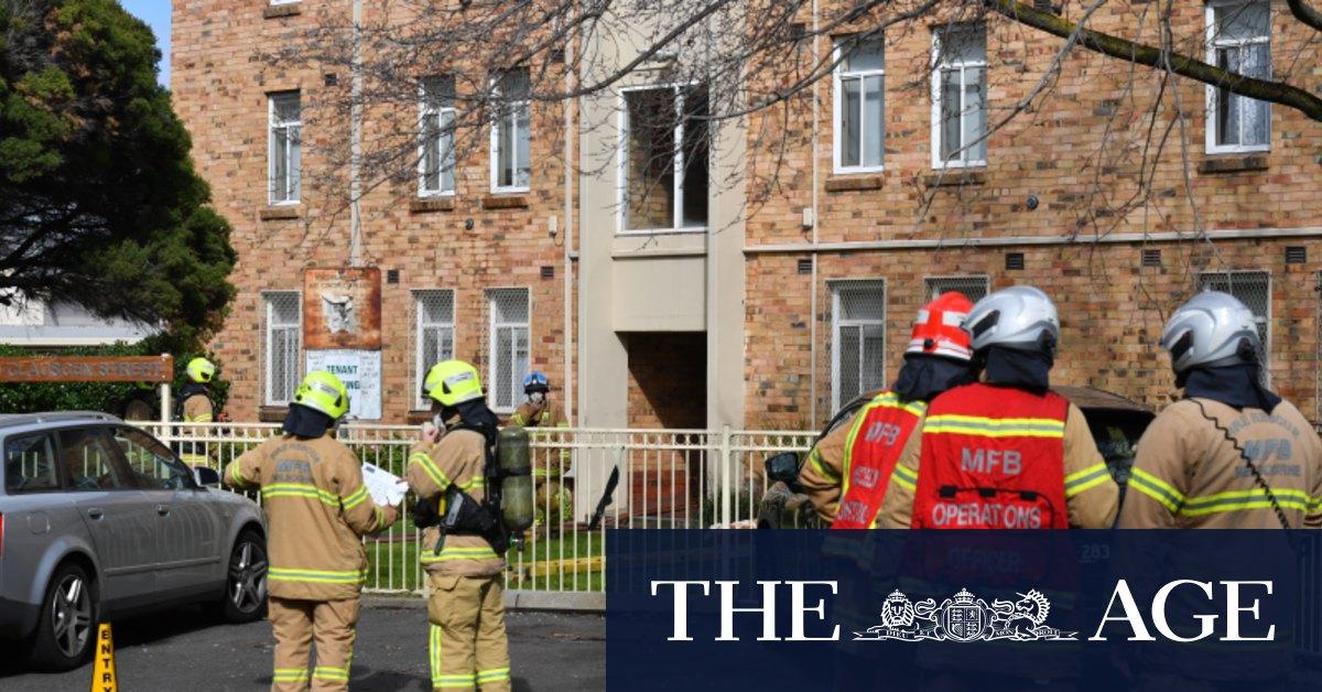 Crime scene set up after child dies in public housing blaze – The Age
