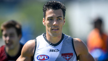 Bringing the grunt: New Bomber Dylan Shiel.