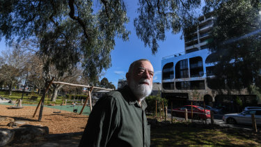Ray Cowling says overshadowing has made Gardiner Reserve gloomy.