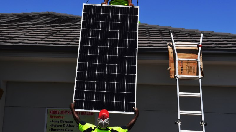 Six panels a minute': Two million Australian homes now have solar