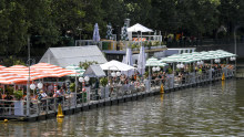 Placeholder pic PENDING FRESH SHOT FROM ARSINEH: Arbory Afloat on the Yarra River in Melbourne, reopens for business on Friday.