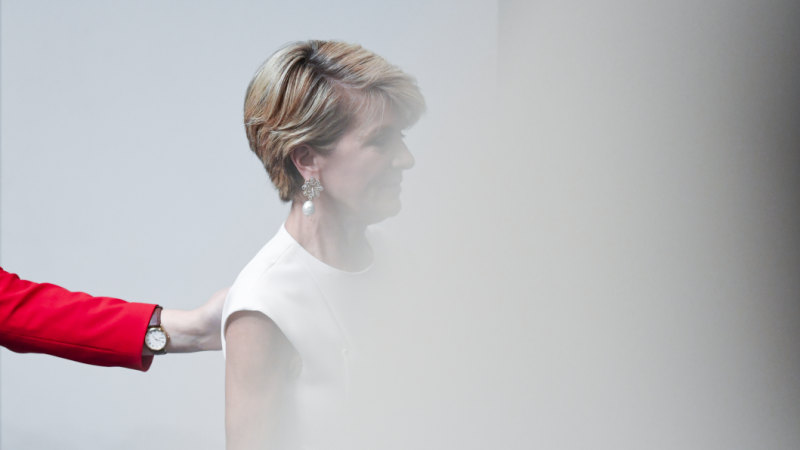 Perfectly poised, Julie Bishop quits politics with a message for men eyeing off her seat
