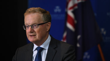 RBA governor Philip Lowe says current record low interest rates will remain in place for years, partly to deal with the shadow cast by the coronavirus pandemic.