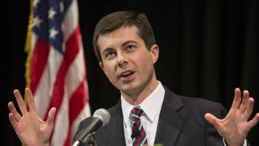 Military veteran South Bend, Indiana mayor Pete Buttigieg.