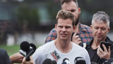 Steve Smith addressed the media at the SCG on Friday afternoon.