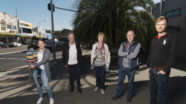 """Support Lindfield president Linda McDonald (third from left) said residents did not want """"hints of Chatswood high rises here""""."""