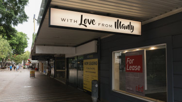 Closed businesses in Manly.