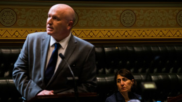 Police Minister David Elliot during Question Time on Thursday.