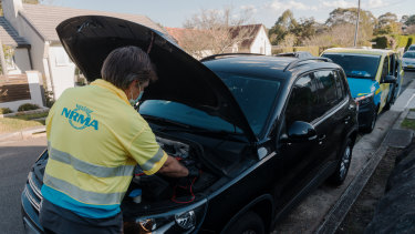 There has been a minor decline in calls to the NRMA for roadside assistance during the current lockdown.