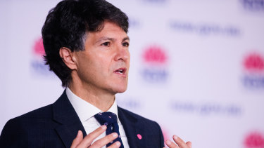 Customer Service Minister Victor Dominello on Wednesday.