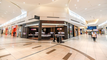 Malls around Australia, normally bustling with people, are like ghost towns.