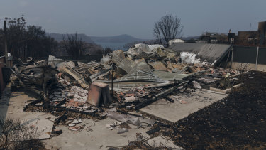 Big rebuild ahead: Properties destroyed on New Year's Eve in Conjola Park, NSW.