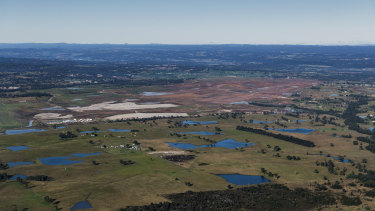 The site of the Badgerys Creek Airport, the centre of the planned new aerotropolis