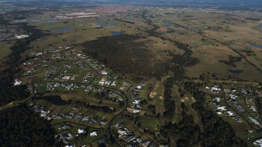 The Western Sydney International Airport site at Badgerys Creek, which has been planned since 1989.