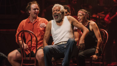 Ernie Dingo and the cast of Bran Nue Dae are putting the final touches on the show ahead of Wednesday's opening night.