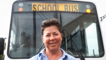"""Saya sangat menyukainya"": Pauline Menczer setelah bus sekolah dijalankan."