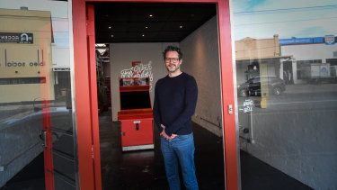 Priced out of the residential market, Mark Murray instead opted for a shop in High Street Northcote.