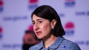 NSW Premier Gladys Berejiklian on Saturday.