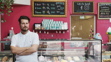 Vincent Piccolo, the manager of Art of Gelato Michaelangelo in Carramar, Sydney, has stopped using Uber Eats.
