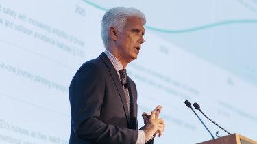CEO Scott Charlton addressing investors at Transurban investor day on Monday.