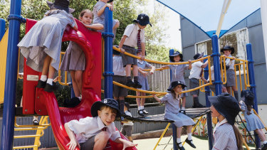 At Pittwater House, the playground is co-ed while the classrooms are single-sex.