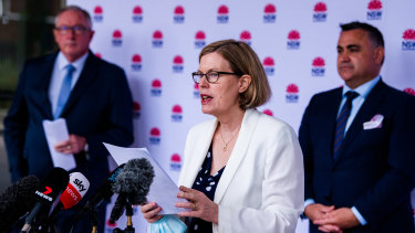 NSW Chief Health Officer Dr Kerry Chant speaks to the media on Wednesday.