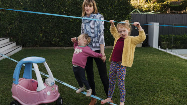 Amy Lawrence has hosted several au pairs to help take care of her two daughters Ava, 4, and Emily, 2.