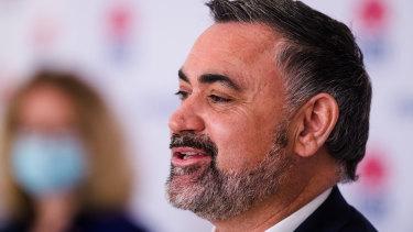 "Deputy Premier John Barilaro said regional NSW was ""on a knife's edge."""