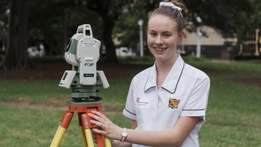 Michaela Lawrence is a year 11 student at Dungog High School and hopes to be a surveyor.
