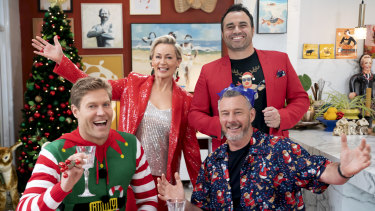 Chris Brown, Amanda Keller, Barry Du Bois and Miguel Maestre are set for The Living Room Christmas special.