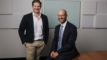 New ACA chief executive Todd Greenberg with president Shane Watson.