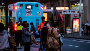 NSW residents are being urged to wear face masks on public transport.