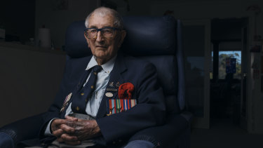 Jack Van Emden, 98, from Maroubra, was a watchmaker's apprentice when he signed up at the age of 18 with the RAAF.