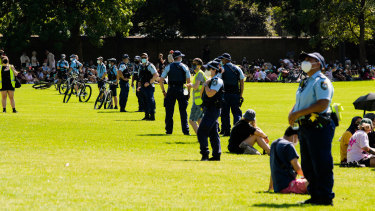 Police were out in force at the event.