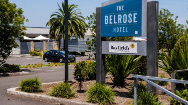 A worker from the Belrose Hotel was one of the three earliest patients to show symptoms on December 10.