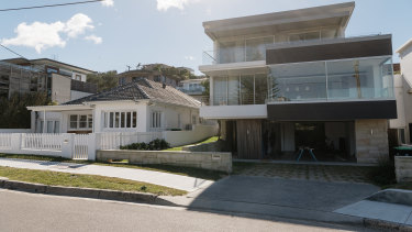 Making waves: Adam Gilchrist will keep the house on the left and knock down the house on the right to make way for a swimming pool.