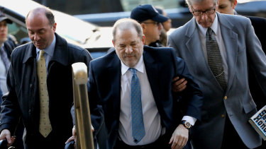 Harvey Weinstein at the state supreme court in New York in February.